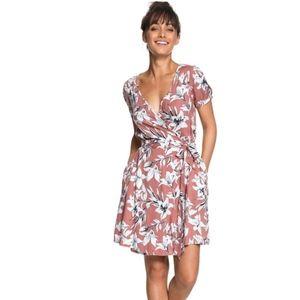 Roxy Monument View Short Sleeve Wrap Dress Size 10